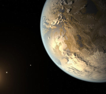 Artystyczna wizja planety Kepler-186f