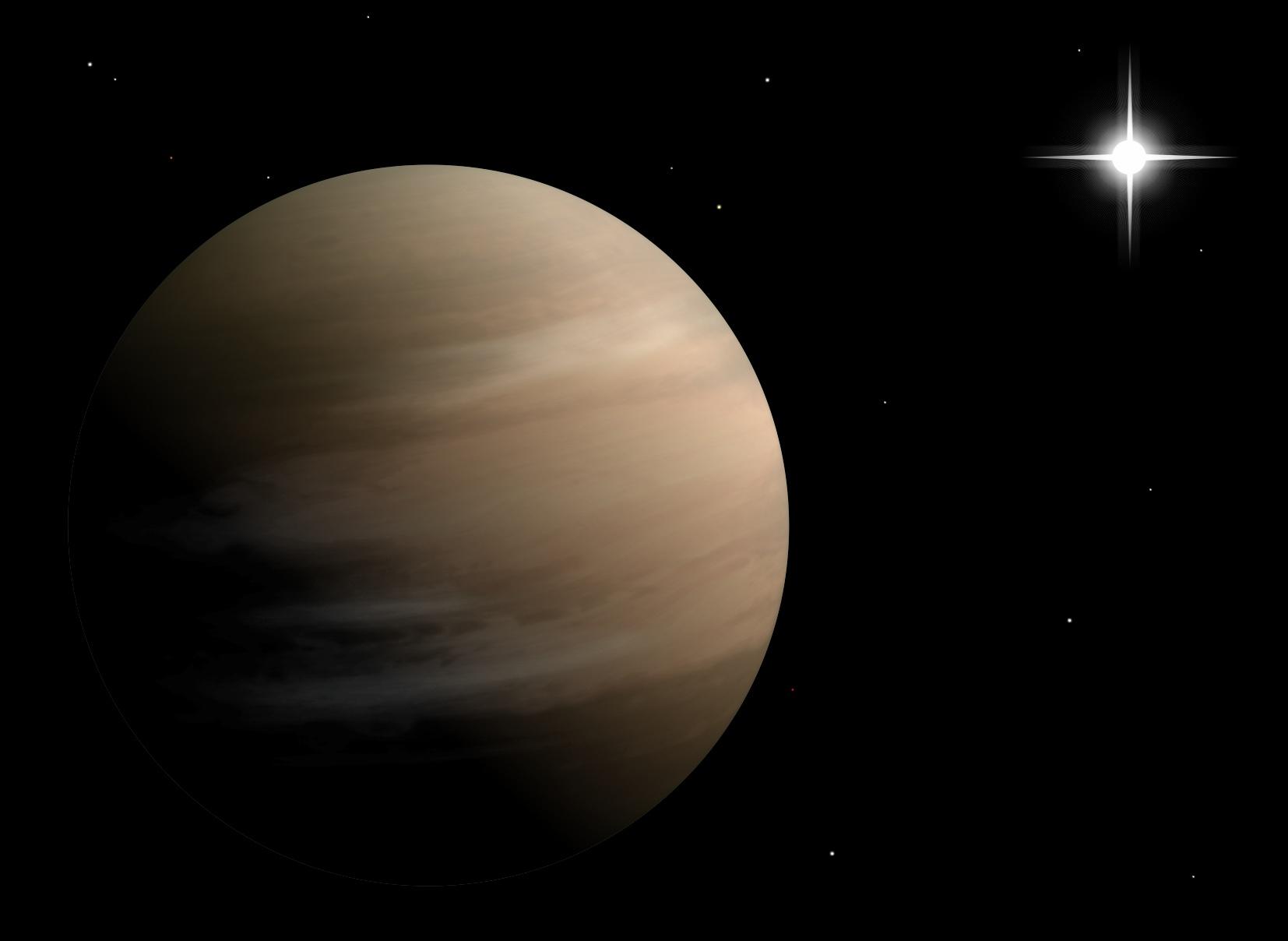 Artystyczna wizja planety BD+14 4559 b