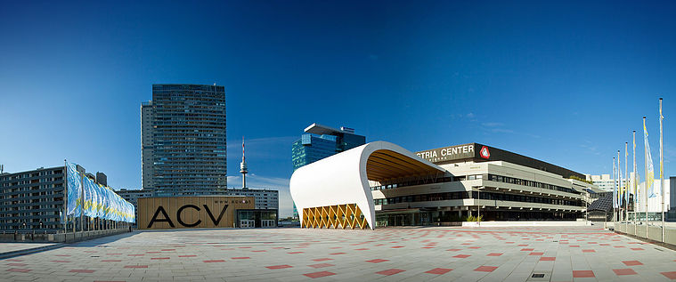 Exterior of the Austria Centre Vienna where the IAU General Assembly will take place in 2018. Credit: ACV.