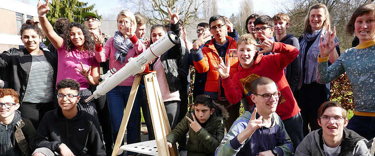 SSVI activity with students in Belgium.